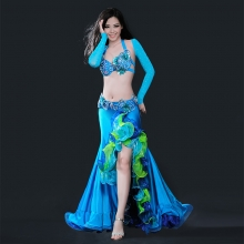 ROYAL SMEELA/皇家西米拉 肚皮舞Tess套装(文胸腰封+裙子+肩套)-8053(WY8053+2005+6045)