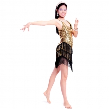 ROYAL SMEELA/皇家西米拉 黑金拉丁舞裙 -7006