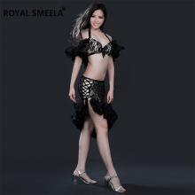 ROYAL SMEELA/皇家西米拉 肚皮舞鼓舞蕾丝套装 BlackDrum 系列 WQ8136-(不含图片上肤色打底裤No safety pants)